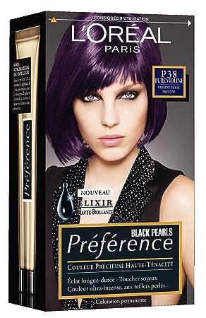 loral paris prfrence black pearls coloration reflets violine perls p38 pure violine lot - Coloration Violine Soie