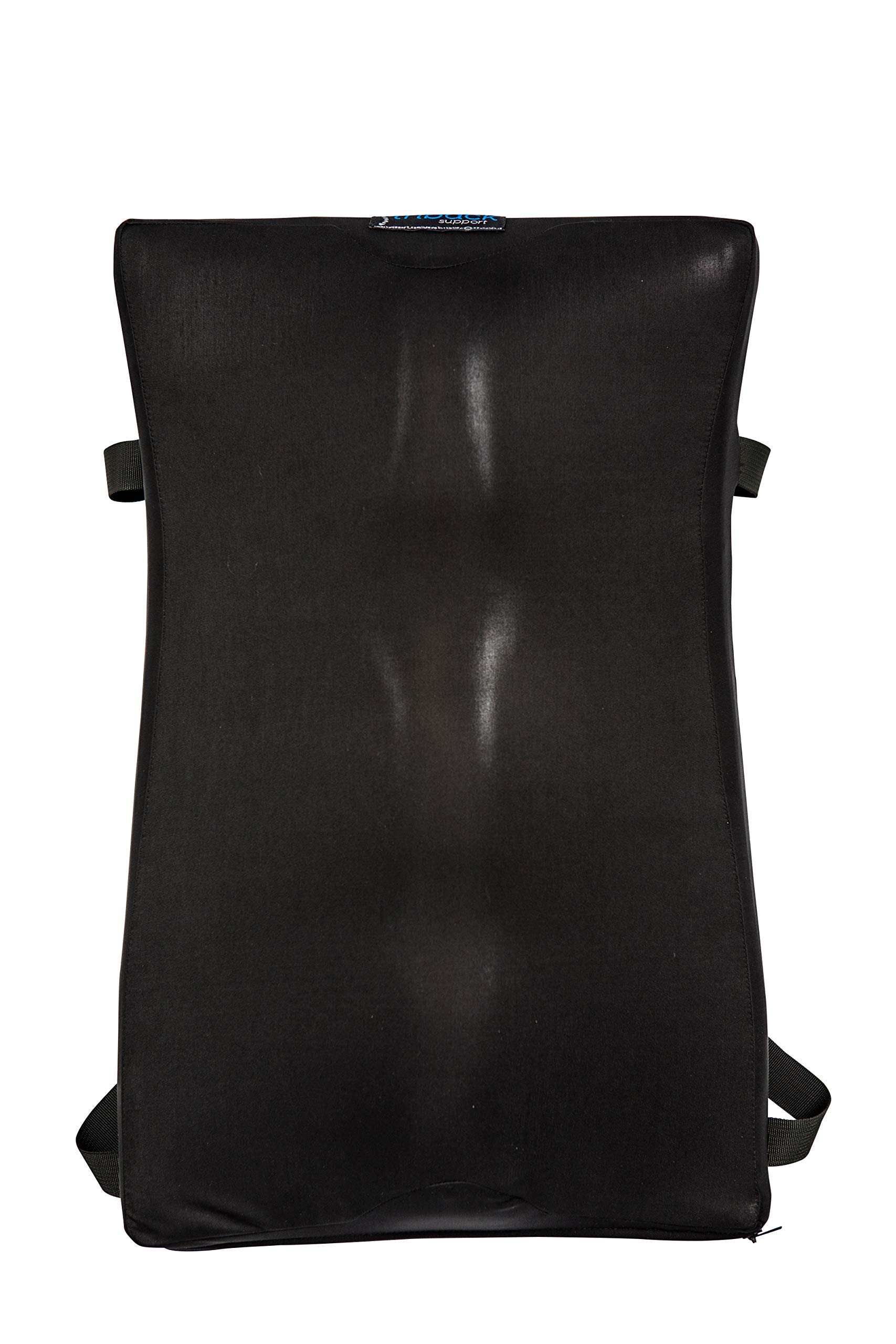 SlouchBeGone Back Support Cushion for Back Pain Relief and Lumbar Support with Adjustable Straps - for car Seats and Office Chairs by SlouchBeGone