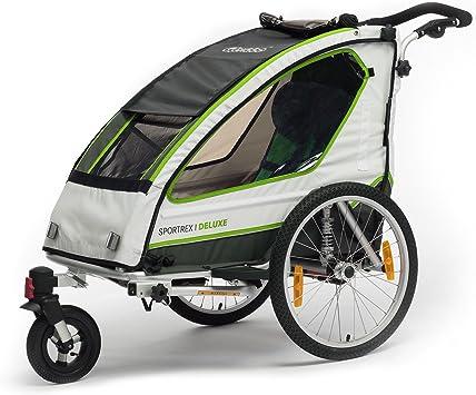 Qeridoo - Remolque de bicicleta para 1 niño Sportrex 1 Deluxe ...
