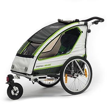 Qeridoo - Remolque de bicicleta para 1 niño Sportrex 1 ...