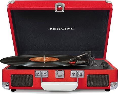 Crosley - Tocadiscos Portã¡Til Deluxe BT Rojo: Amazon.es: Informática
