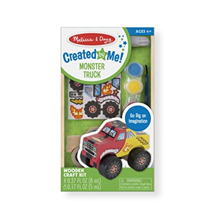 Amazon melissa doug decorate your own wooden monster truck melissa doug decorate your own wooden monster truck craft kit junglespirit Gallery
