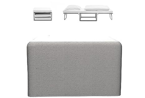 EZ Bed In A Box - Letto pieghevole richiudibile in un cubo/pouf ...