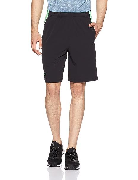 Under Armour Men's UA SuperVent Shorts, Black/Vapor Green, 3XLarge