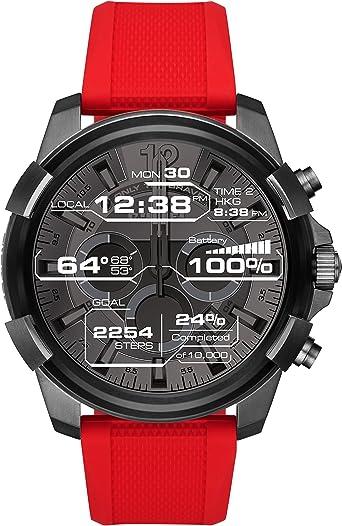 Diesel Reloj Digital para Hombre de Cuarzo con Correa en Silicona ...
