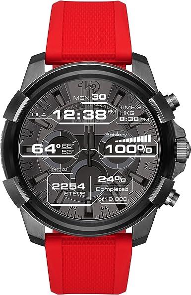 Diesel Reloj Digital para Hombre de Cuarzo con Correa en Silicona DZT2006