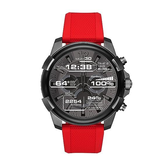 Diesel Reloj Digital para Hombre de Cuarzo con Correa en Silicona DZT2006: Amazon.es: Relojes