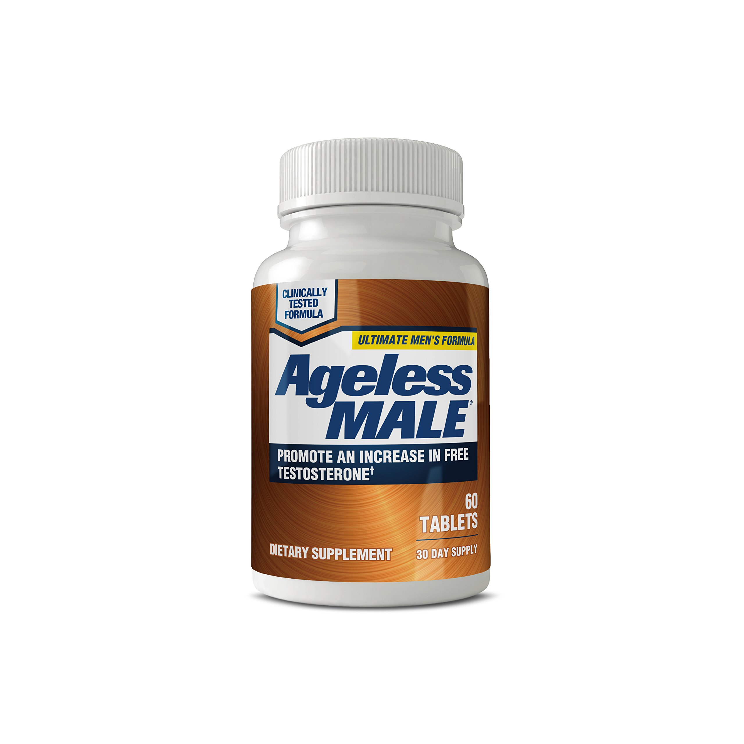 Ageless Male Testosterone Booster Supplement for Muscle Growth & Sex Drive + E-BOOK! (60 Tablets)