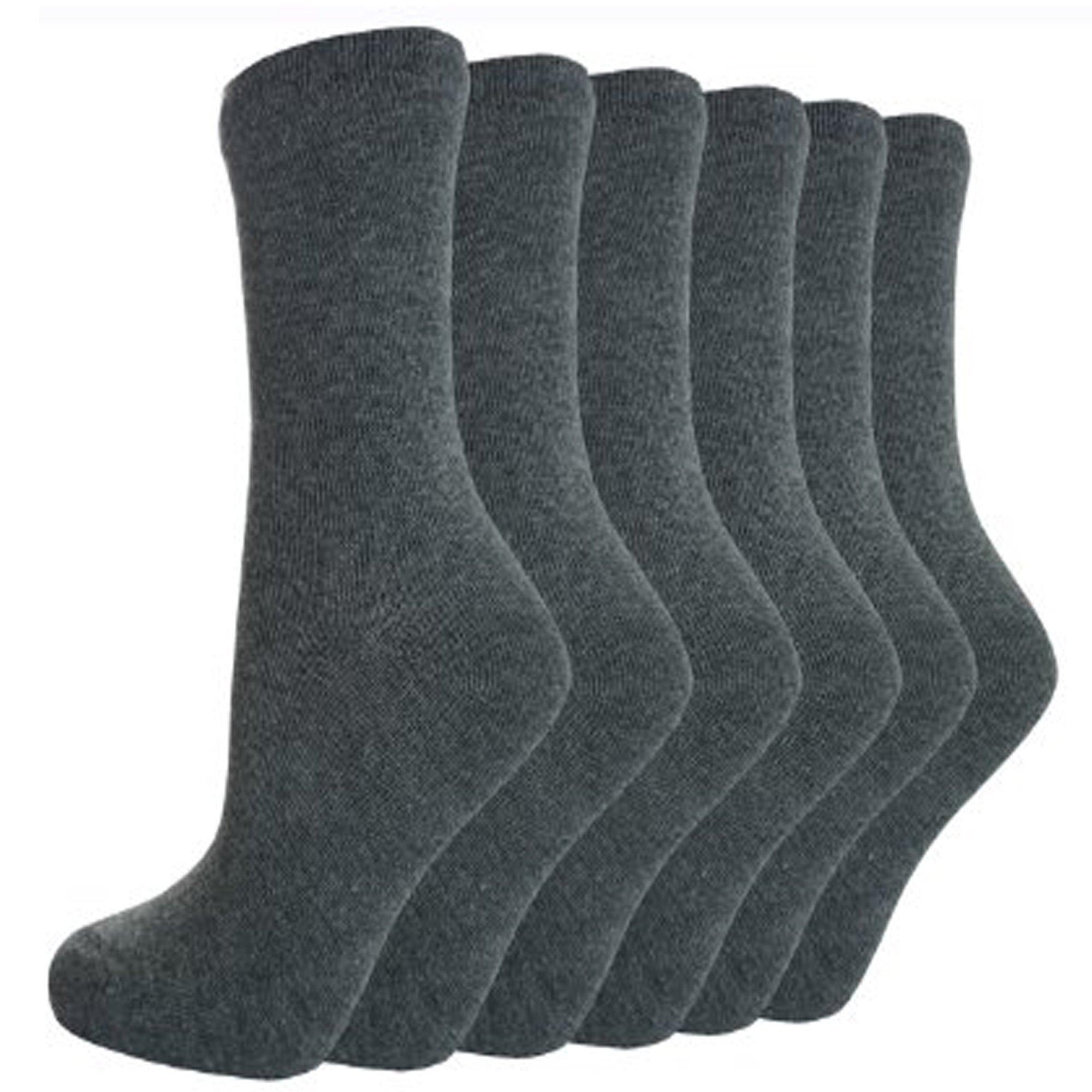 Unisex Ankle Back To School Socks Girls Boys Plain Cotton Rich Children Kids