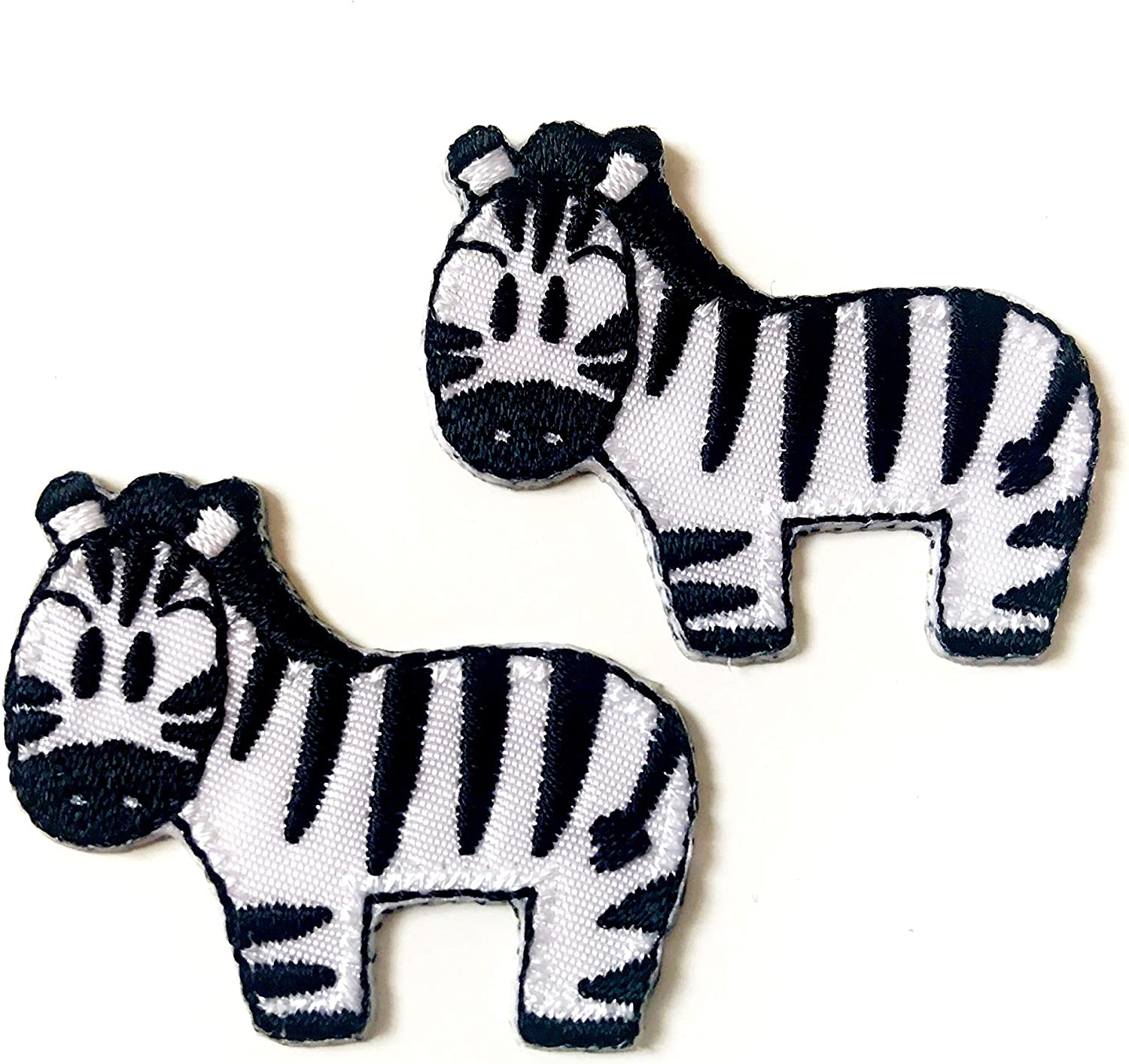 Animals Baby Kids Zebra Iron On Patch Embroidered Applique