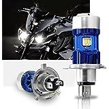H4 Led Lampadina Kit per Moto - Win Power - H4 Faro per Moto Hi / Lo Beam, Xenon White 6000K 4000Lm Super Bright DC 12V / DC 24V, 1Pc