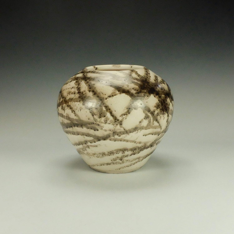 like birch wood grain Raku ceramic black and white Bark Platter