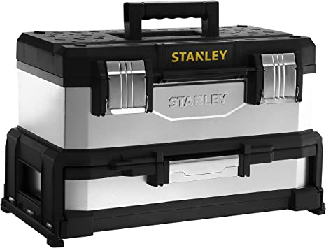 Stanley 1-95-830 Caja de herramientas, Negro, Acero inoxidable, 54 ...