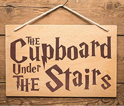 Christmas Presents For Brother.Presents Gifts For Harry Potter Fans Lovers Uncle Friends Brother Father Birthday Christmas Xmas The Cupboard Under The Stairs Wooden Hanging Plaque