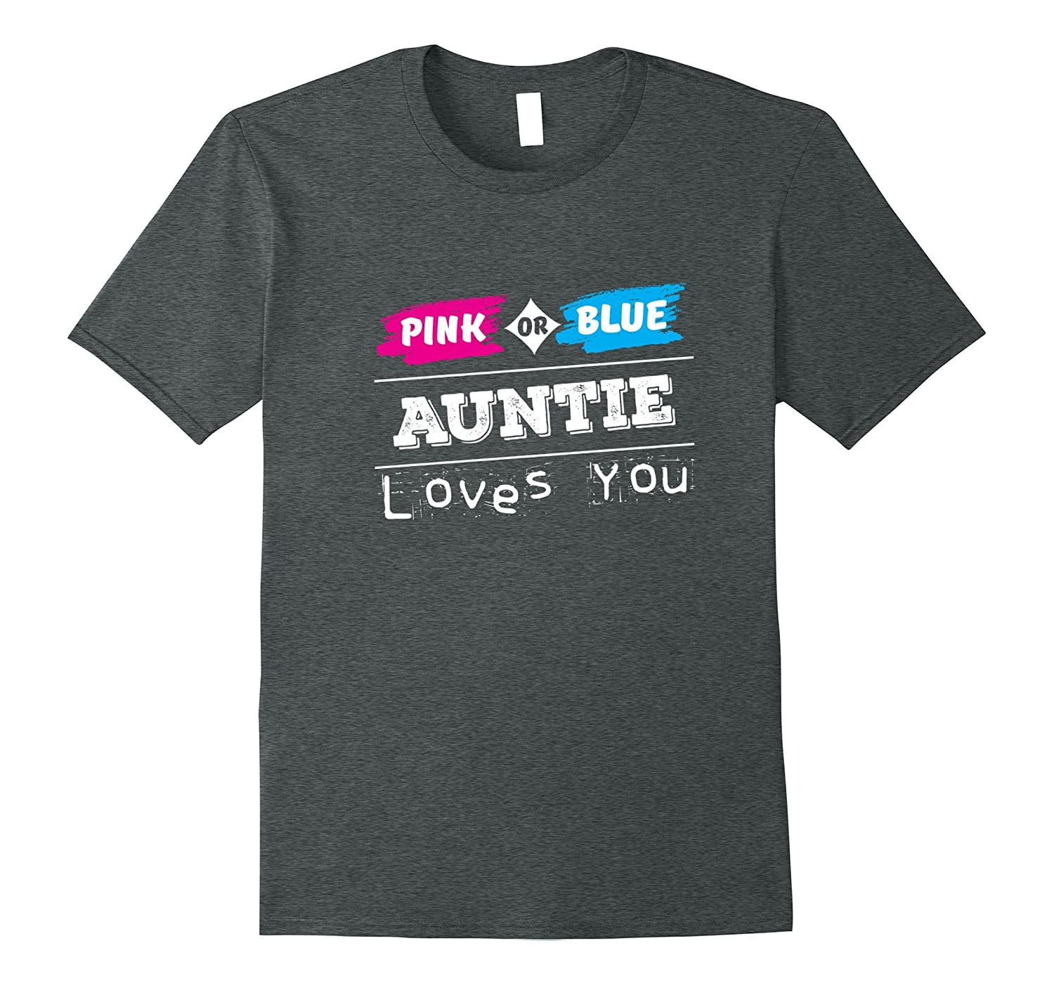 Gender Reveal Party Auntie T-Shirt for Family Shirt-FL