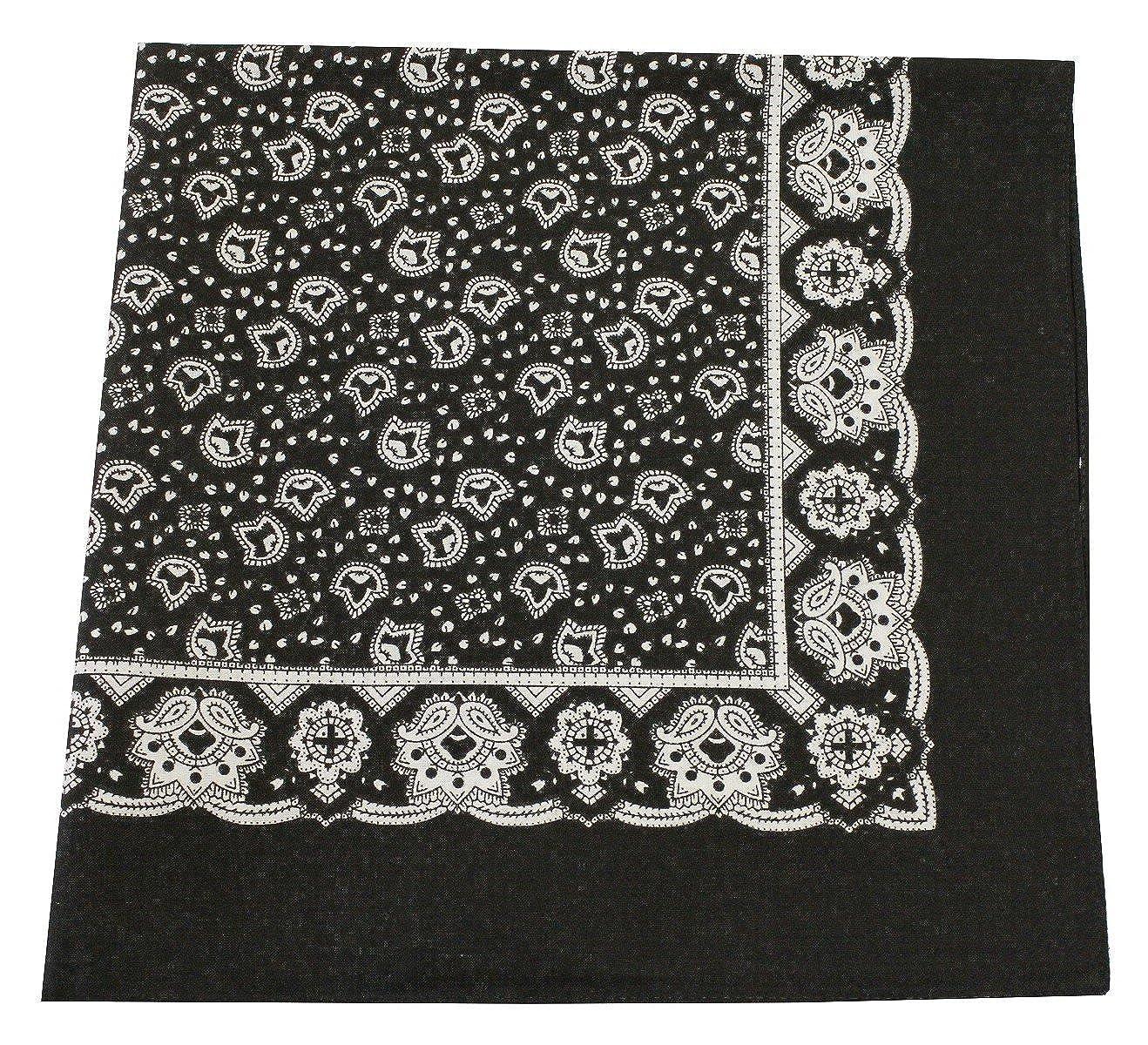 Tobeni 548 Bandana Headscarf Napkin in 100 Cotton for Women and Men