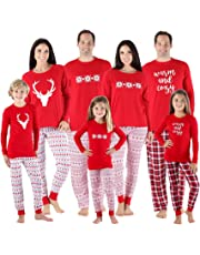 SleepytimePjs Family Matching Sleepwear Knit Holiday Mix Match Pajamas PJs Collection