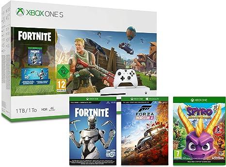 Xbox One S 1TB Fortnite Console + Forza Horizon 4 - Standard ...