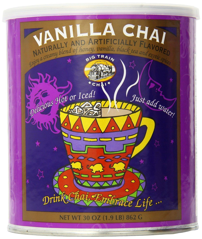 Big Train Vanilla Chai, 1.9 Lb. Cans (Pack/Case of 6)