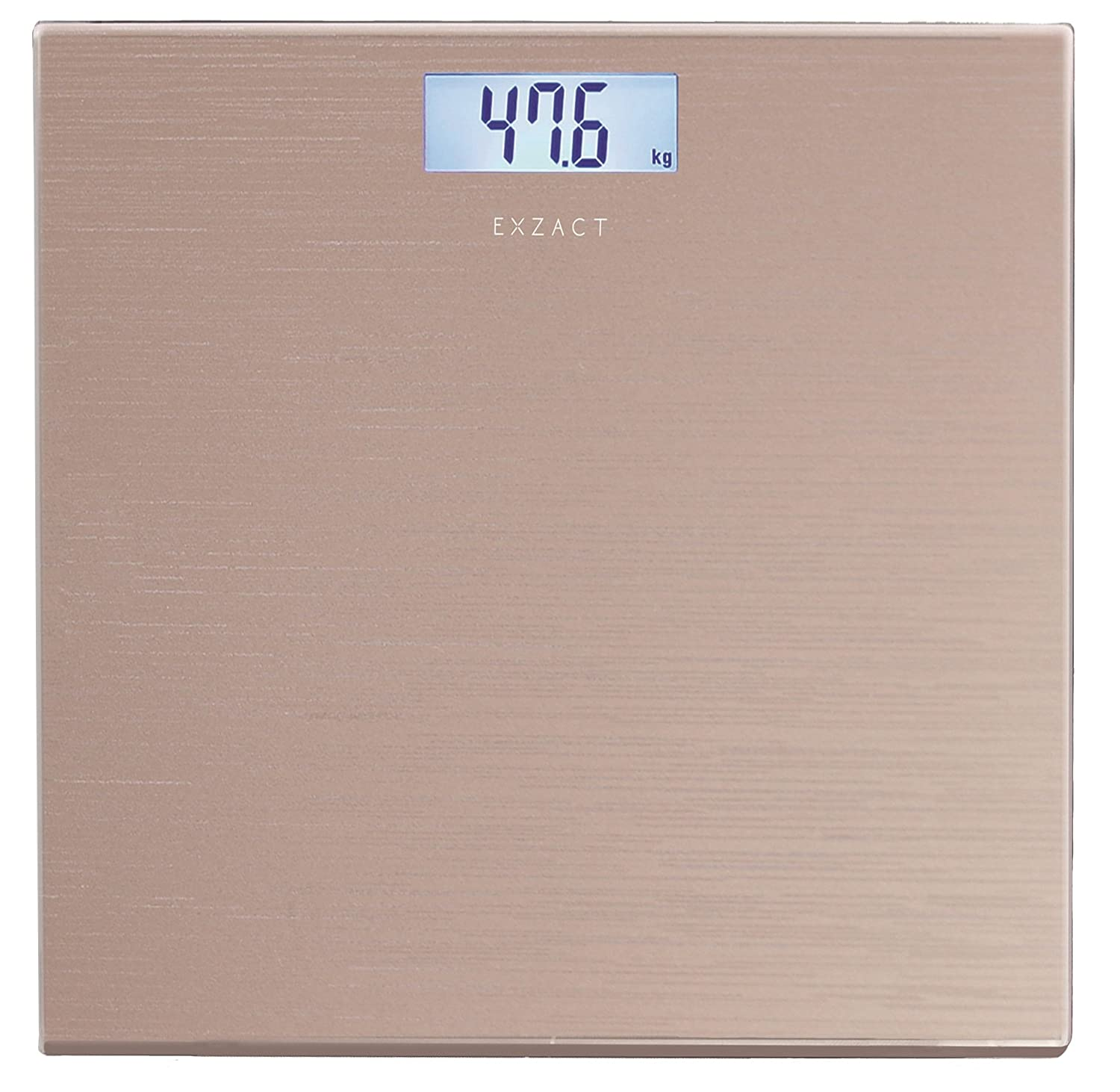 EXZACT Bathroom Scale / Peronal Scale/ Digital Weighing Scale - Large Capacity 180kg / 400lb /28st - High Precision, Step-on, Backlight LCD Display, High Quality Tempered Glass Platform, Slim and Smart Design (Black) Exerz Limited
