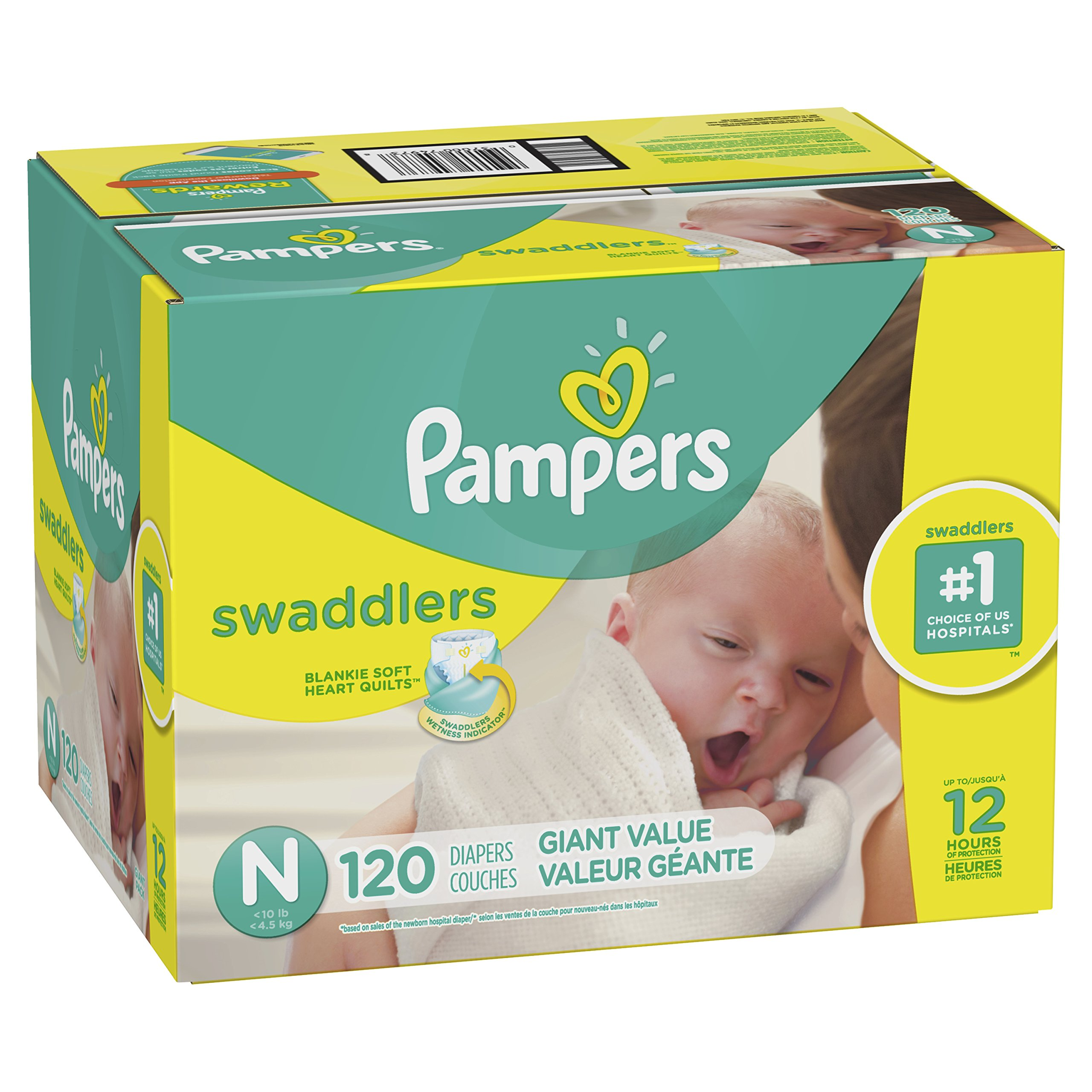 Pampers Swaddlers Disposable Diapers Size Newborn, 120 Count by Pampers (Image #1)