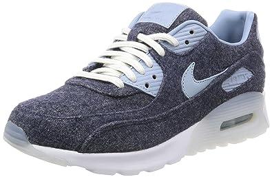 Nike Women s Air Max 90 Ultra PRM Midnight Navy Blue Grey White Running  Shoe 6 f0de4496628d