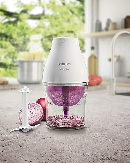 500 Watt, 2 x Zubehör, 2 Geschwindigkeitsstufen Philips Onion Chef HR2505//90 Multifunktions-Zerkleinerer schwarz 2 x Zubehör