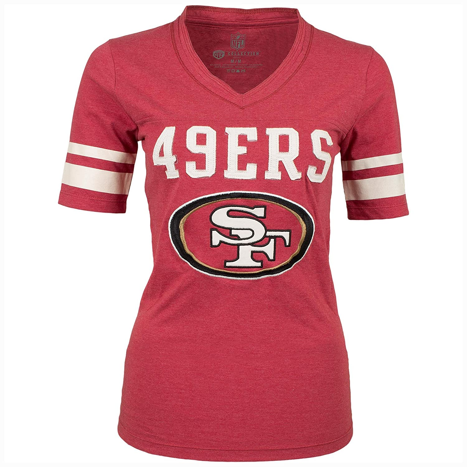 San Francisco 49ers Women's Cheer T-Shirt - Size Large Old Time Football