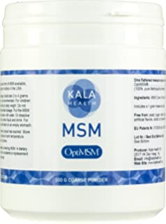 Kala Health - OptiMSM Powder Coarse Flakes (500 g Container). This Pure MSM