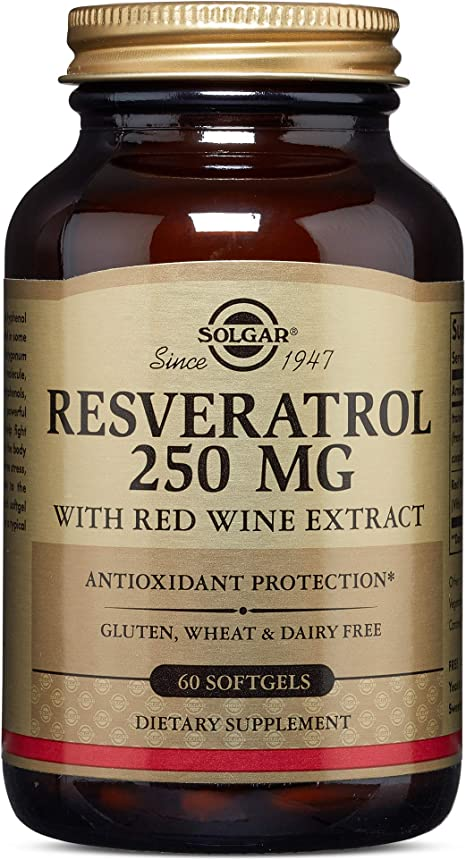Amazon Com Solgar Resveratrol With Red Wine Extract Health