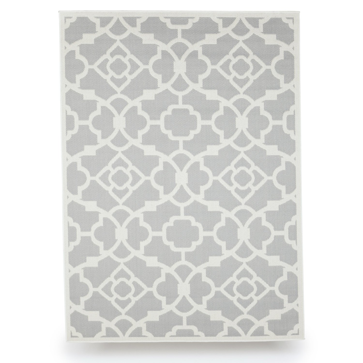 Budge Monaco Outdoor Patio Rug, RUG057GY1 (5' Long x 7' Wide, Slate Gray)