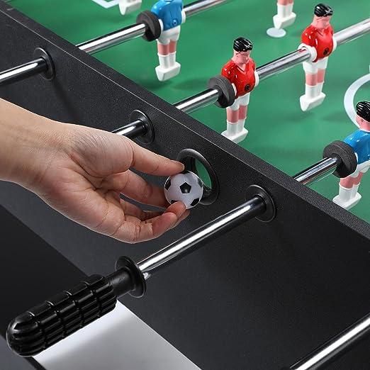 Pinty Futbolín Mesa del Fútbol Juego de Mesa Divertido Deportes Recreativos Futbolín para Adultos/ Niños 122cm / 48 Inches MDF (Negro): Amazon.es: Juguetes y juegos