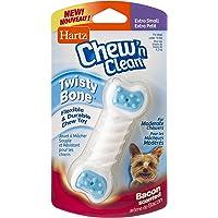 Hartz Chew n' Clean Twisty Bone Bacon Scented Flexible Dog Chew Toy - Extra Small, 3270015686