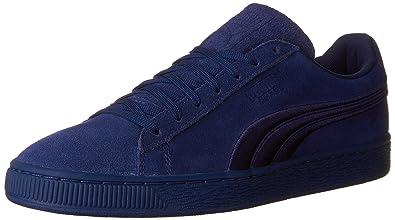 PUMA Men's Suede Classic Badge Sneaker,Twilight Blue,4 ...