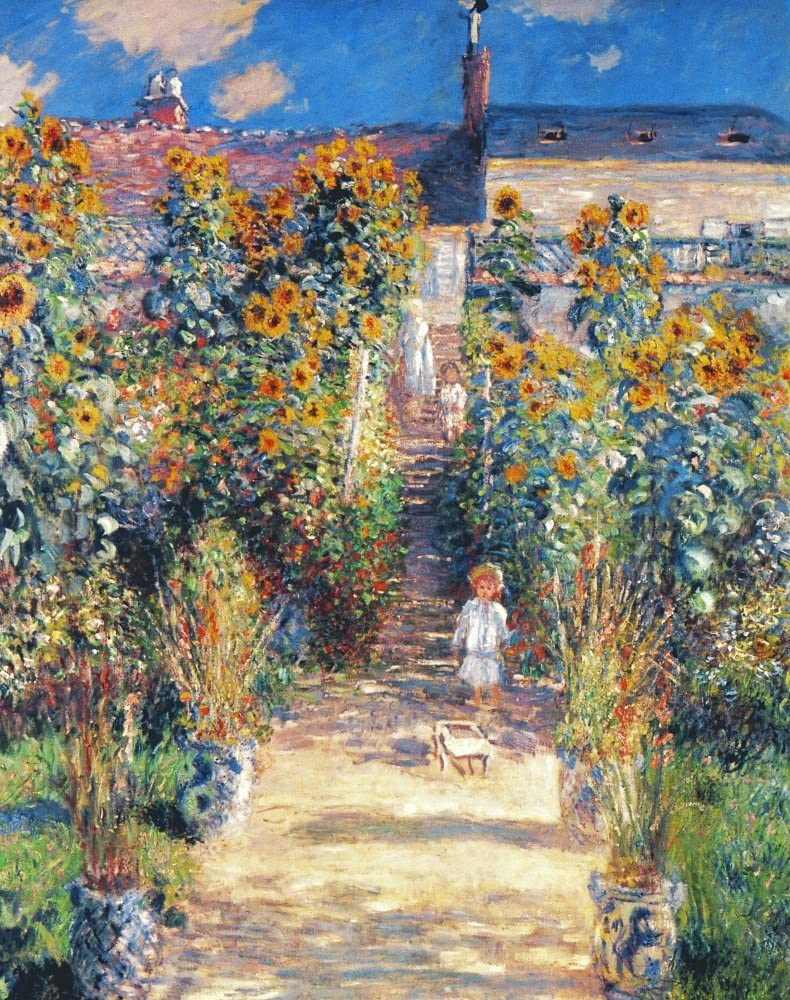 Monet GardenVetheuil Nthe ArtistS Garden At Vetheuil Oil On Canvas 1880 By Claude Monet Poster Print by (18 x 24)