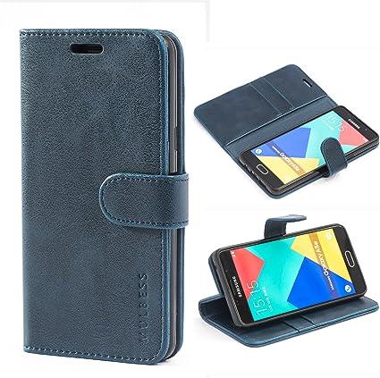 Coque Samsung Galaxy A5 (2016), étui à rabat en cuir, étui portefeuille avec support pour Samsung Galaxy A5 (2016), noir