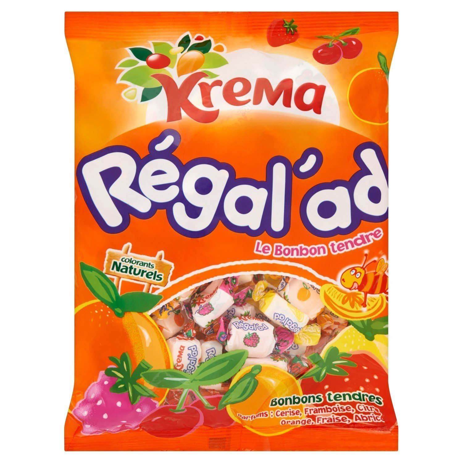 Krema Regal'ad Fruit Chewy Candy From France 150 Gr (8 PACK) by Krema