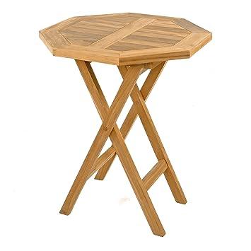 Amazon De Divero Gl05526 Balkontisch Gartentisch Beistelltisch Holz