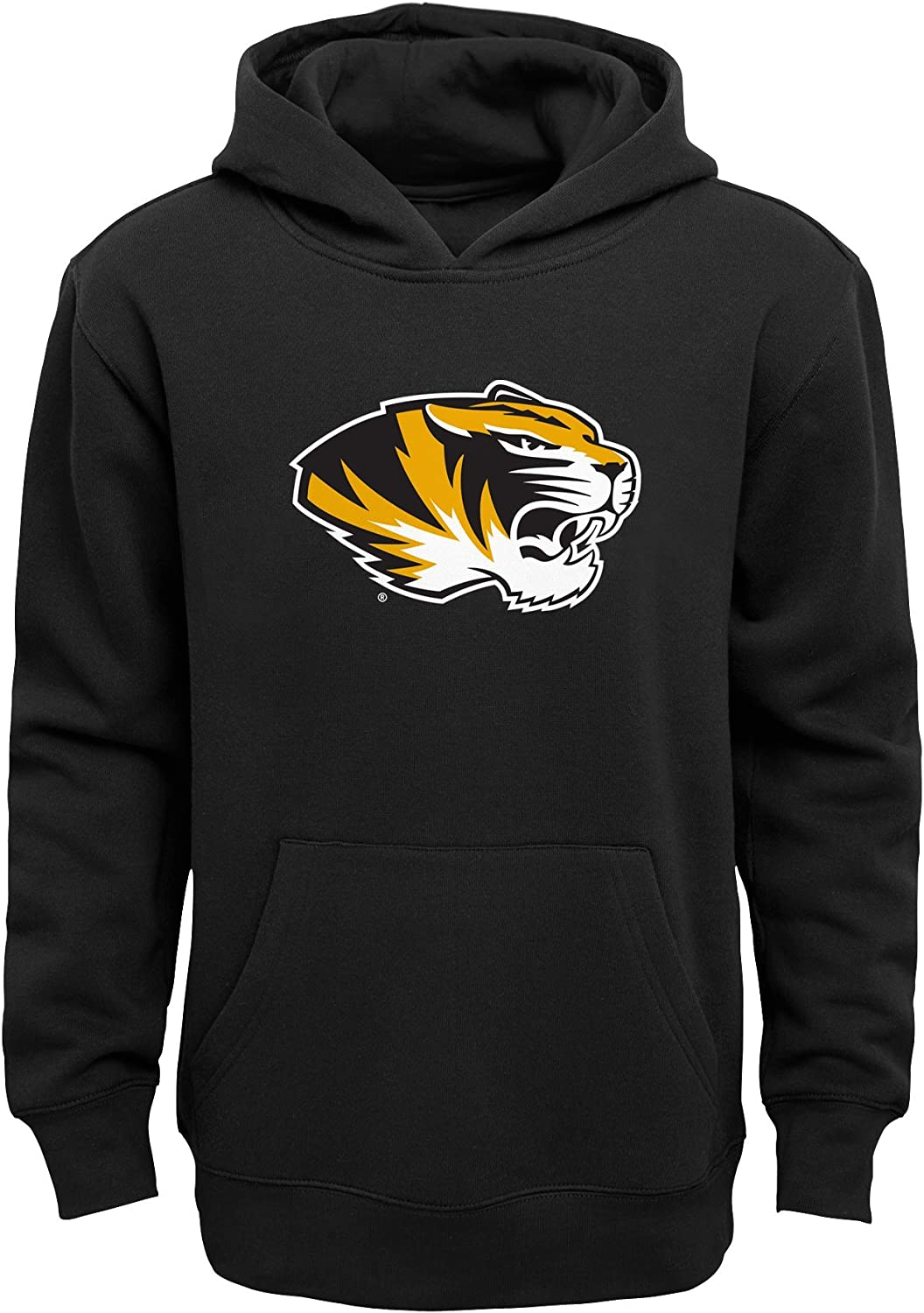 NCAA by Outerstuff Little NCAA Kids /& Youth Boys Team Logo Pullover Hoodie Kids Medium 5-6 Missouri Tigers Black