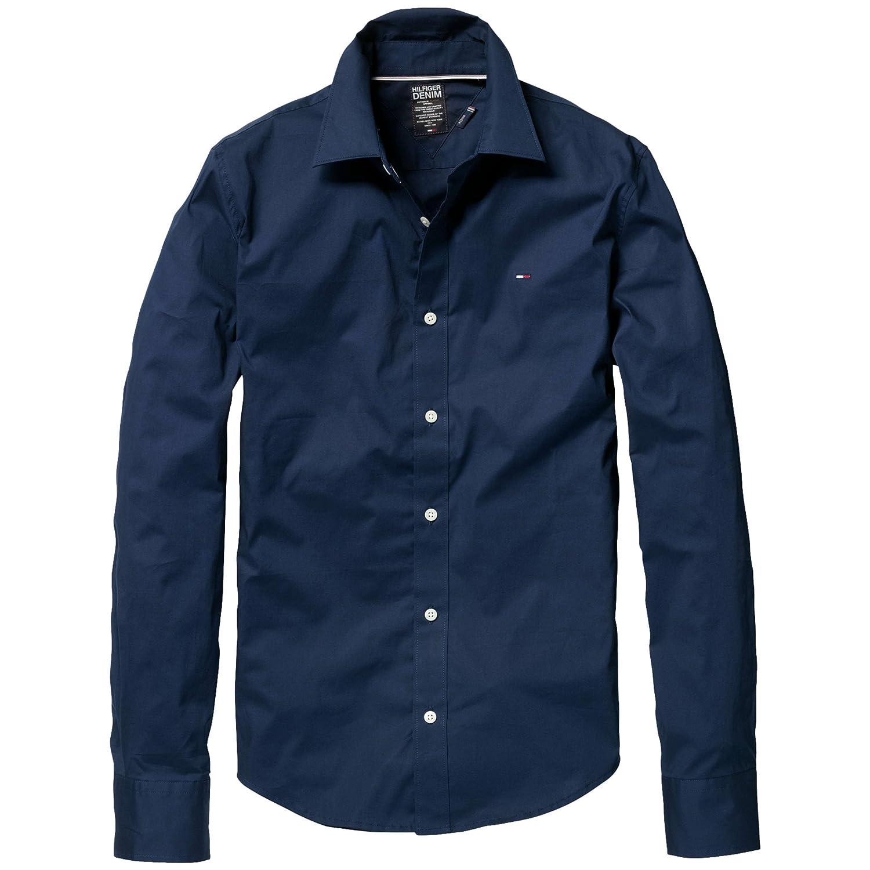 c7c169c19f42 Hilfiger Denim Herren Freizeithemd Slim Fit Sabim shirt l s KIR 1953225284,  Gr. 52 (XL), Blau (409 PEACOAT)  Amazon.de  Bekleidung
