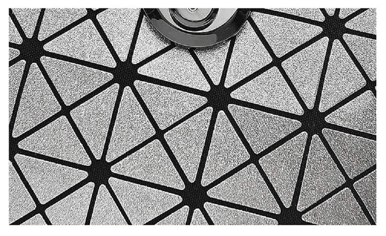 VIOY Nano Synthetische Material Geometrie Reißverschluss Scrub Lingge Tasche Diagonal Diagonal Diagonal Mehrzweck Faltbare Tote 575c36
