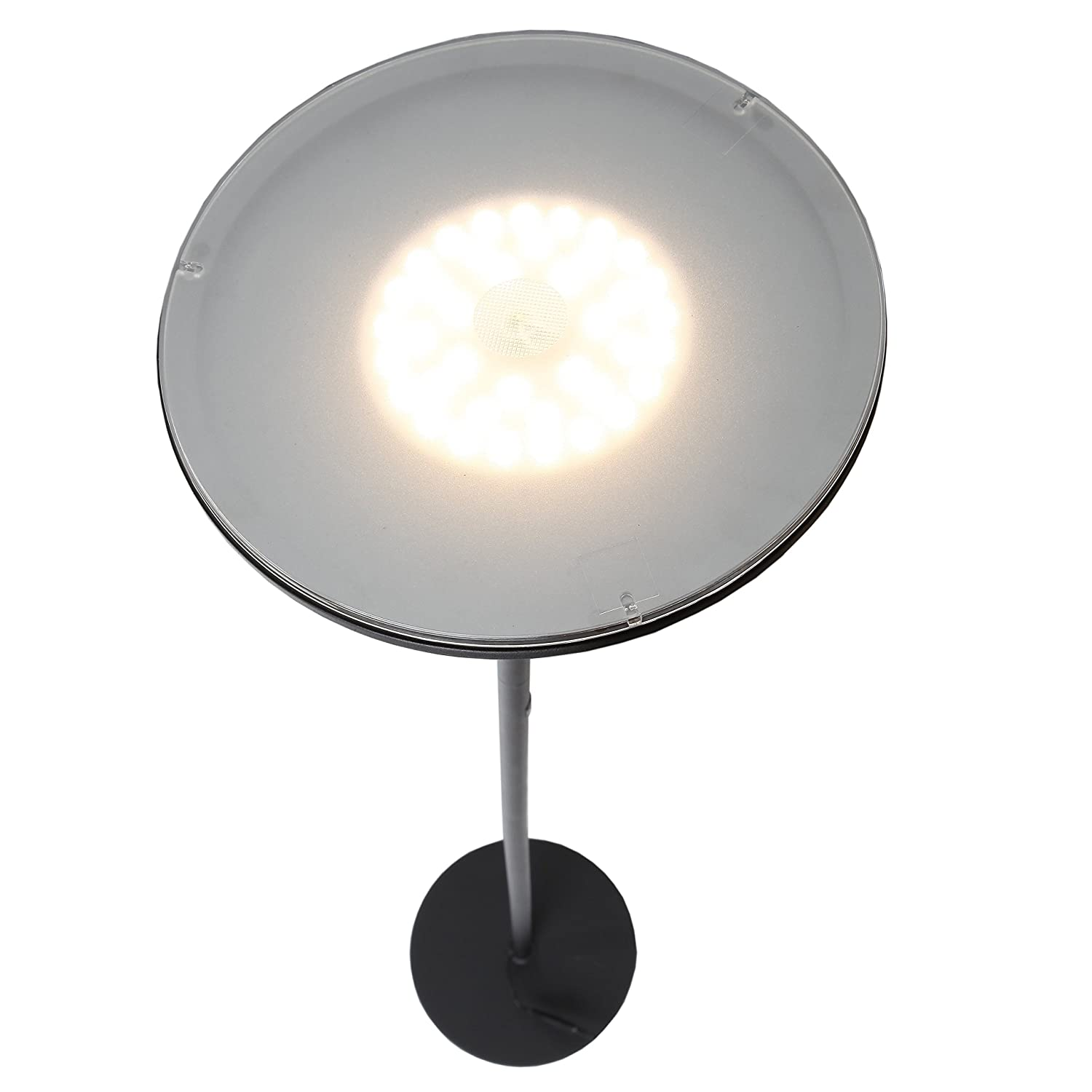 brightech  sky led torchiere floor lamp  dimmable super bright  - designed to last advanced led technology lets the sky torchiere outpacelamps that depend on standard ordinary shortlived cfl and incandescentbulbs