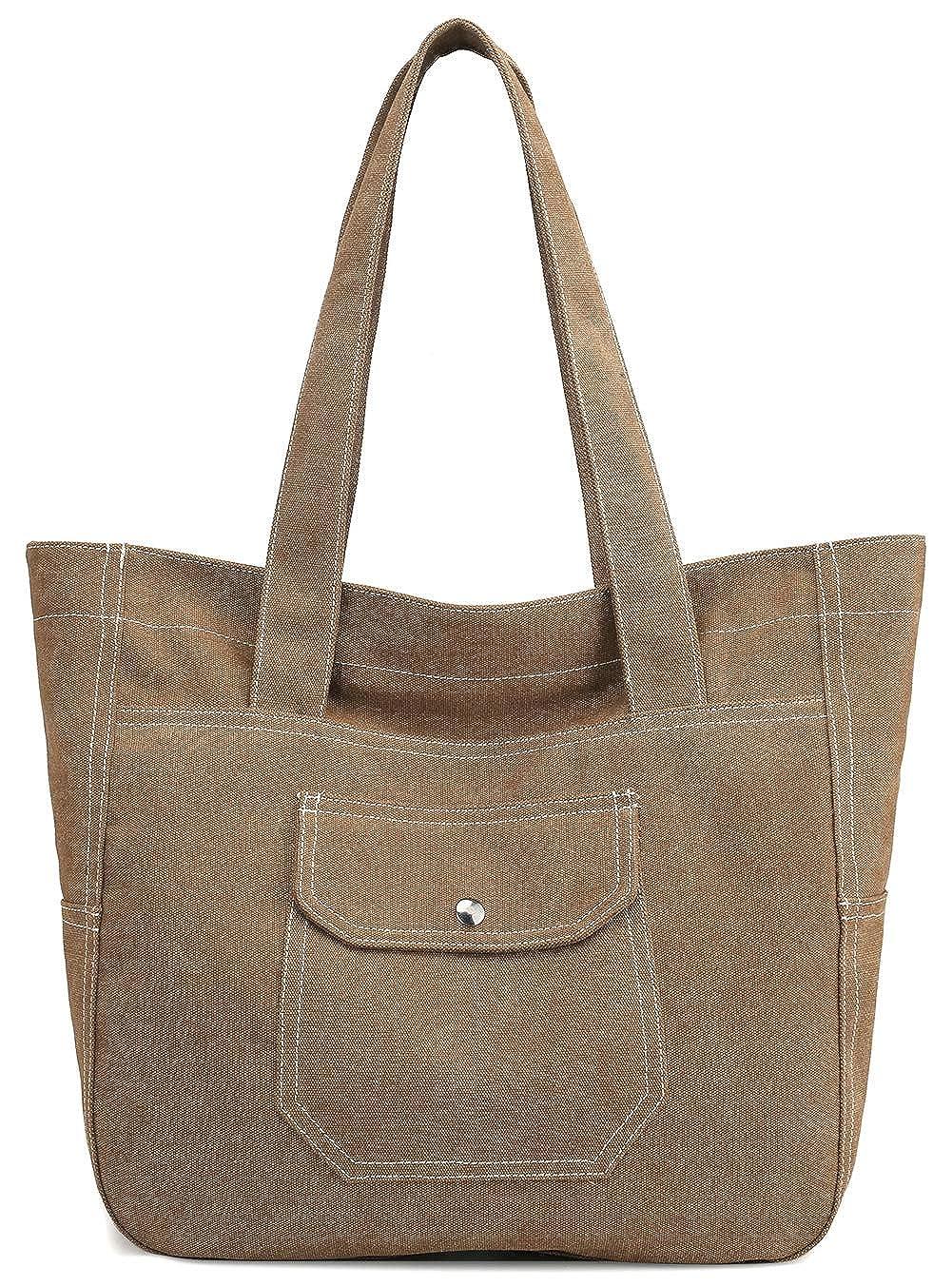 0b6321bb39fa Canvas Tote Bag for Women Large School Shoulder Bag Work Satchel Handbag