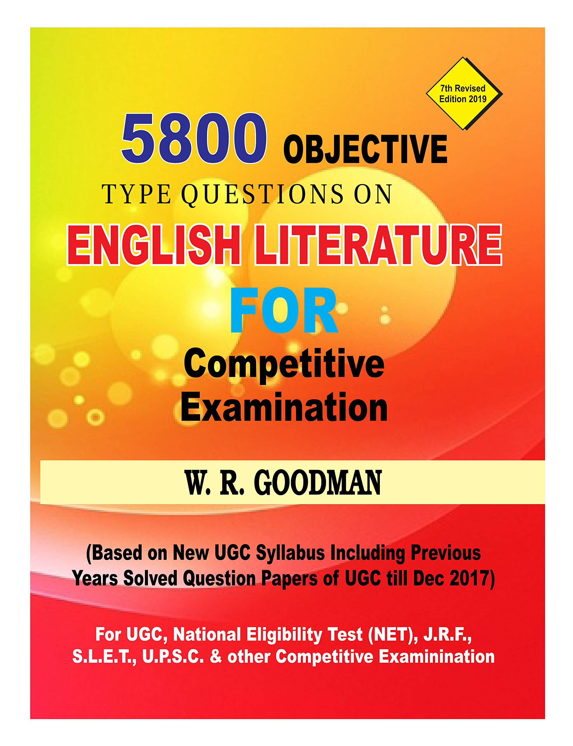 Buy OBJECTIVE TYPE QUESTION ON ENGLISH LITERATURE FOR