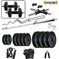Kore K-PVC-COMBO2-WB-SL Home Gym, 50 kg
