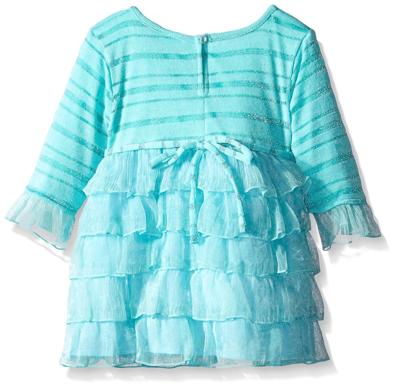 Youngland Girls Little Stripe to Chiffon Tiered Dress Legging Set