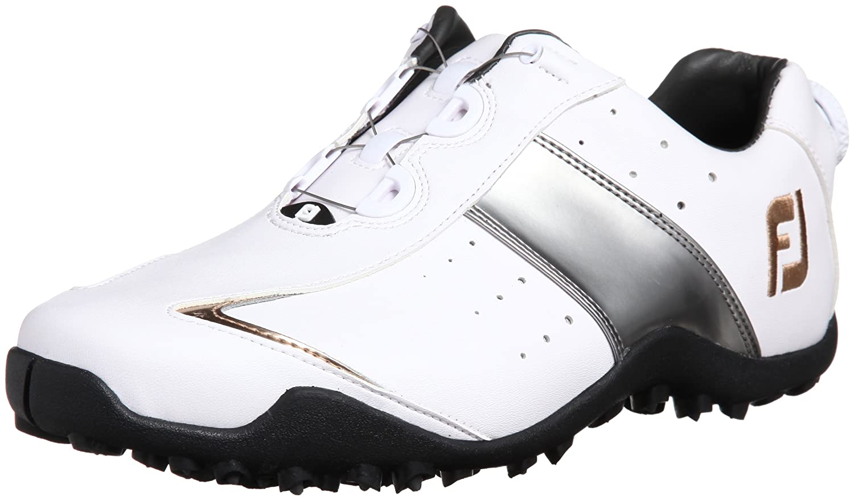 [フットジョイ] FootJoy ゴルフシューズ EXL SPIKELESS BOA B00HYOY0T2 24.5 2E ホワイト/シルバー/ゴールド