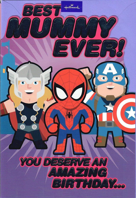 Tarjeta de cumpleaños de Los Vengadores de Marvel: Amazon.es ...