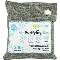 Apalus ® Bolsa de Carbón Activo De Bambú, Deshumidificador Y Purificador De Aire. Ambientador Natural Eficaz y Desodorante para Eliminar los Olores De ...