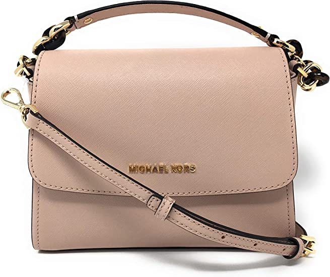 Michael Kors Sofia Small East West Saffiano Leather Satchel Crossbody Bag